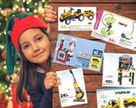 fillette et catalogues de jouets